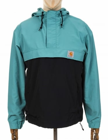 Nimbus Two Tone Pullover Jacket - Soft Teal/Black