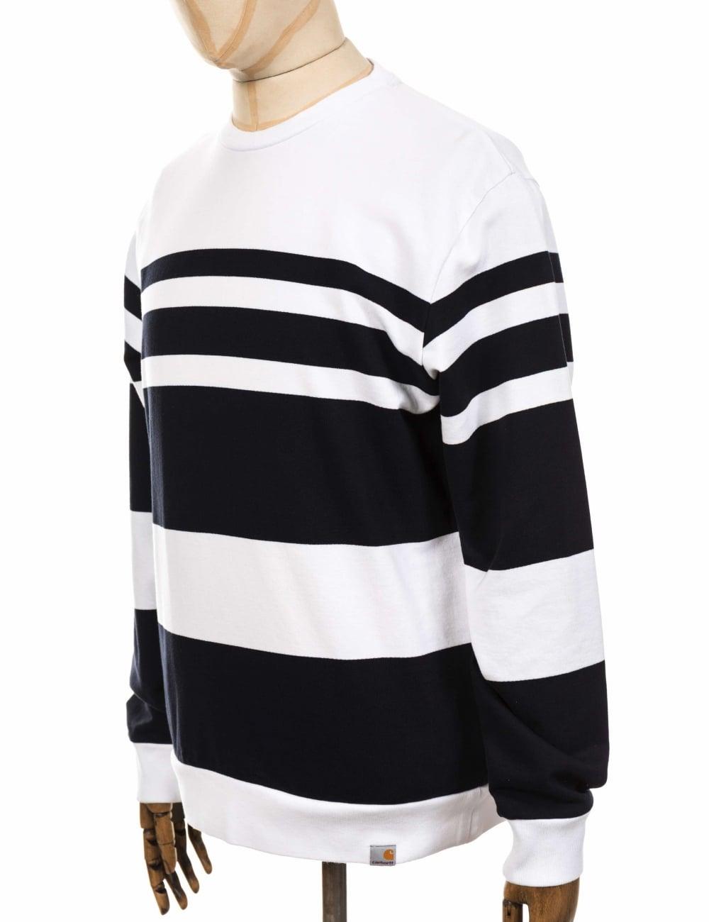 bd1b42a6ac2 Carhartt WIP Orlando Sweatshirt - White Dark Navy - Clothing from ...