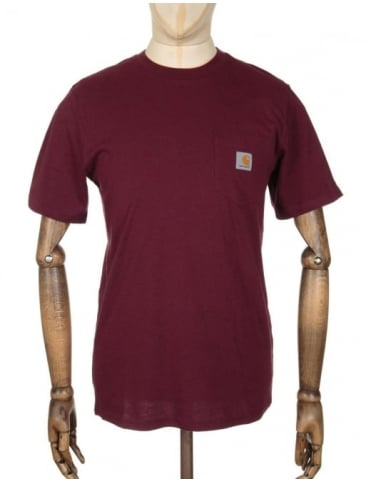 Pocket T-shirt - Chianti Heather