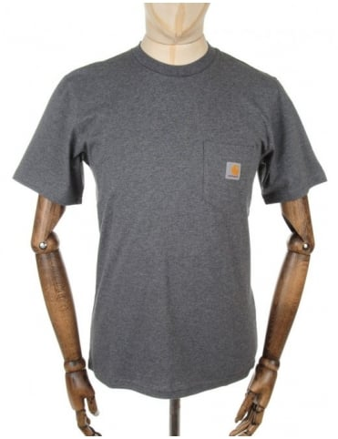 Carhartt Pocket T-shirt - Dark Grey Heather