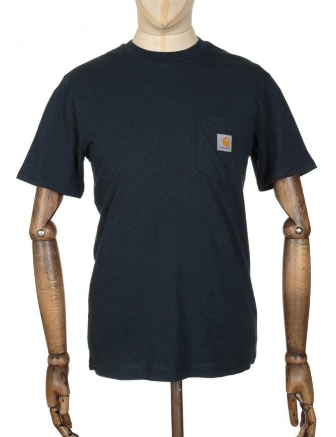 Carhartt Pocket T-shirt - Navy Heather