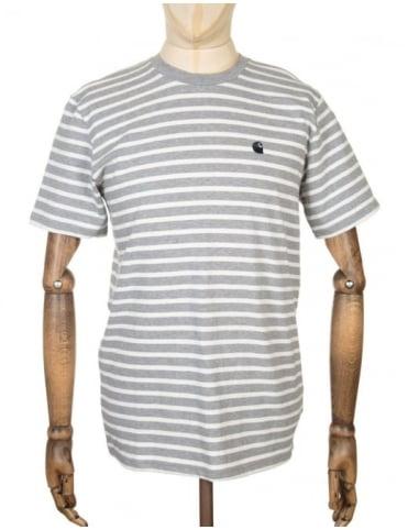 Carhartt Robie Stripe T-shirt - Grey/Snow