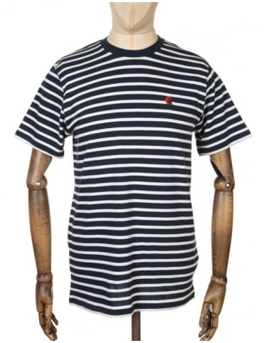 Carhartt Robie Stripe T-shirt - Navy/Snow