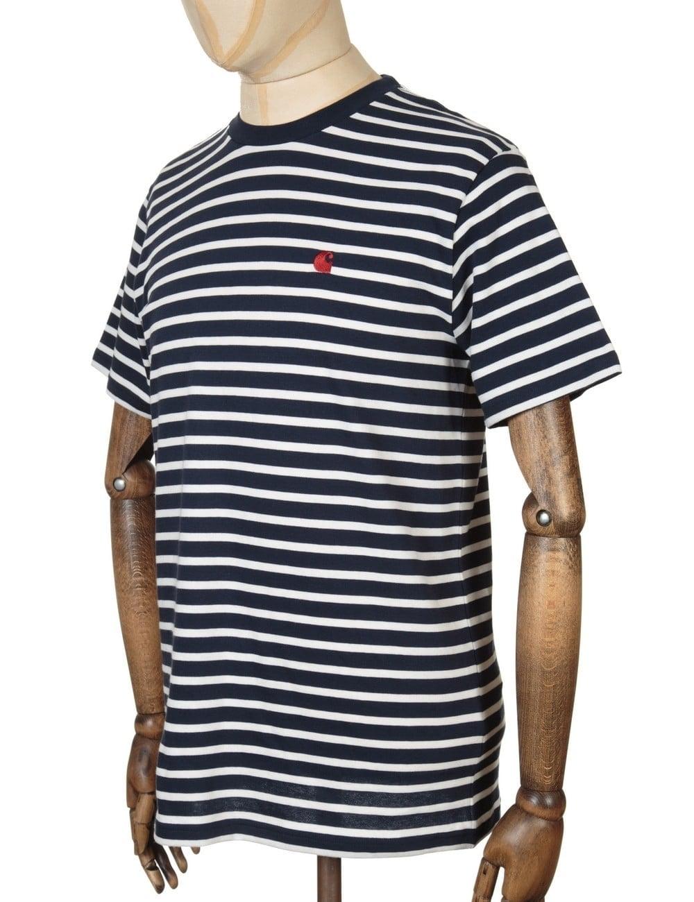delikatne kolory fabrycznie autentyczne tania wyprzedaż usa Robie Stripe T-shirt - Navy/Snow