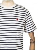 Carhartt Robie Stripe T-shirt - Snow/Navy