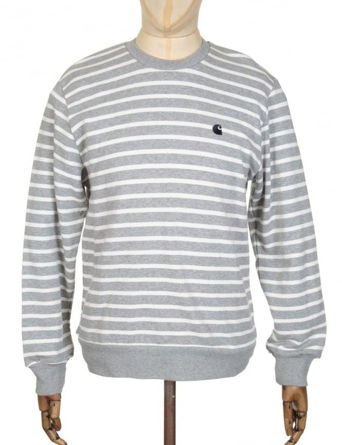 Carhartt Robie Sweatshirt - Grey Heather/Snow