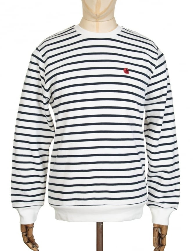Carhartt Robie Sweatshirt - Snow/Navy
