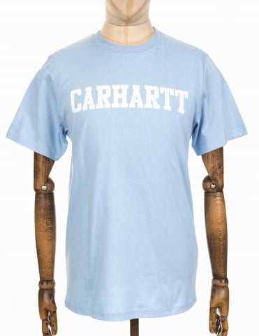 S/S College T-shirt - Soft Blue
