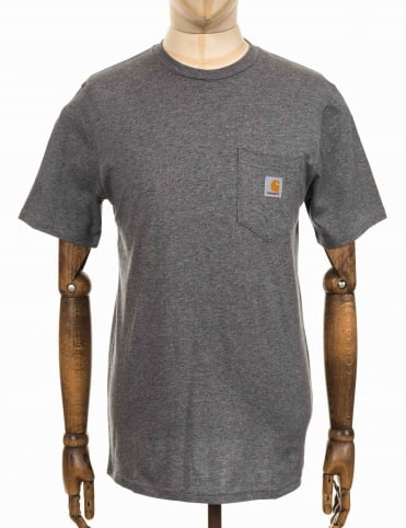 S/S Pocket T-shirt - Dark Grey Heather