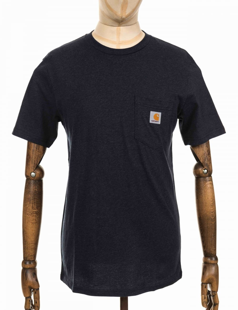 d7814becccca2 Carhartt WIP S/S Pocket T-shirt - Dark Navy Heather - Clothing from ...
