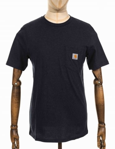 S/S Pocket T-shirt - Dark Navy Heather