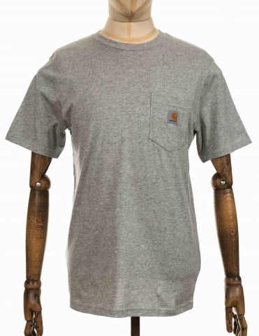 S/S Pocket T-shirt - Heather Grey