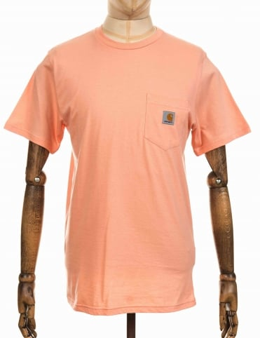 S/S Pocket T-shirt - Peach