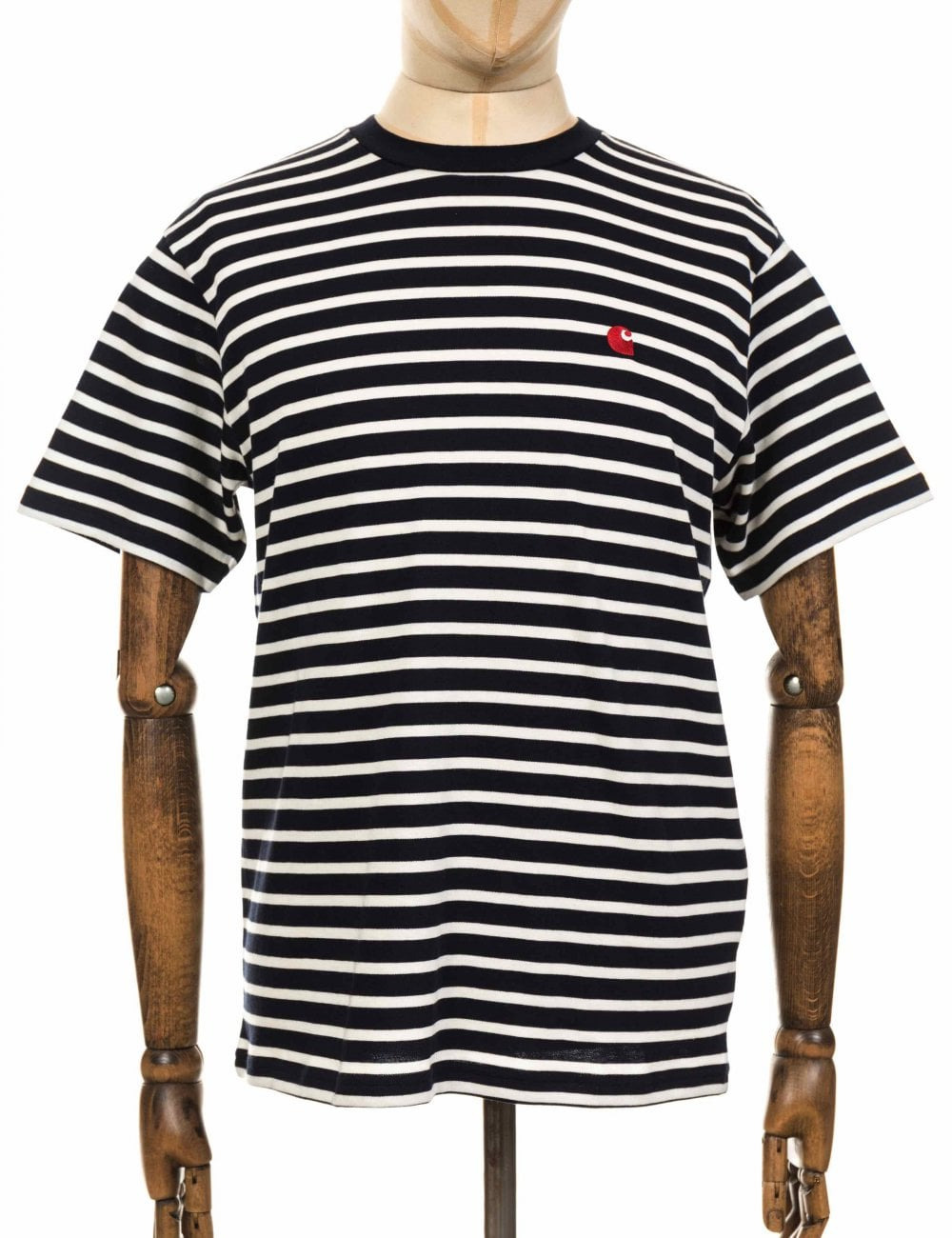 e01dccf1b4 Carhartt WIP S/S Robie Stripe Tee - Dark Navy/Wax - Clothing from ...