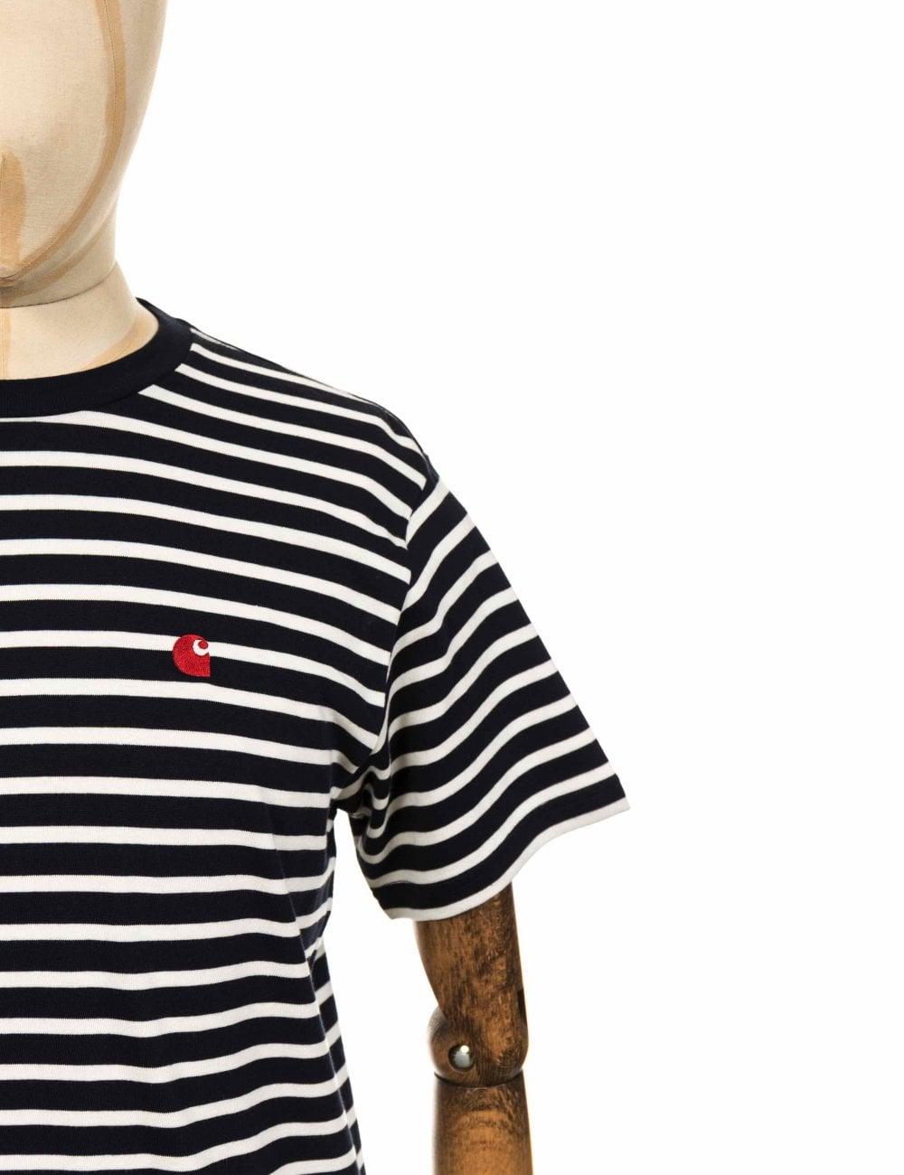 San Francisco Data wydania: najlepsze trampki S/S Robie Stripe Tee - Dark Navy/Wax