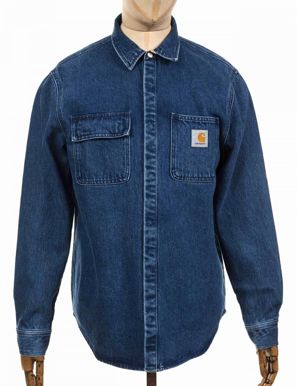 415ddd665f Carhartt WIP Salinac Shirt Jacket - Blue Stone Washed - Clothing ...