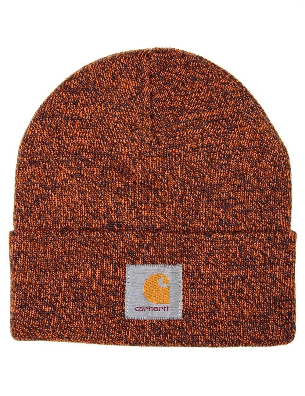 baeba6dedcada Carhartt WIP Scott Watch Hat - Dark Navy Carhartt Orange ...