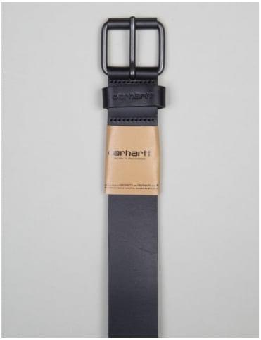 Carhartt Script Leather Belt - Black/Black
