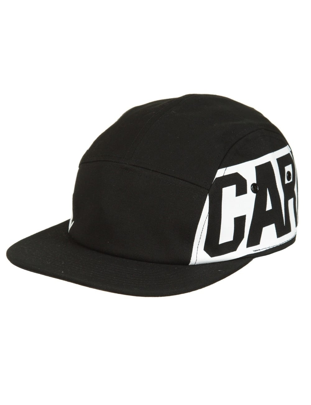 ca377ebc63bb0 Carhartt WIP Script Starter 5 Panel Cap - Black White - Hat Shop ...