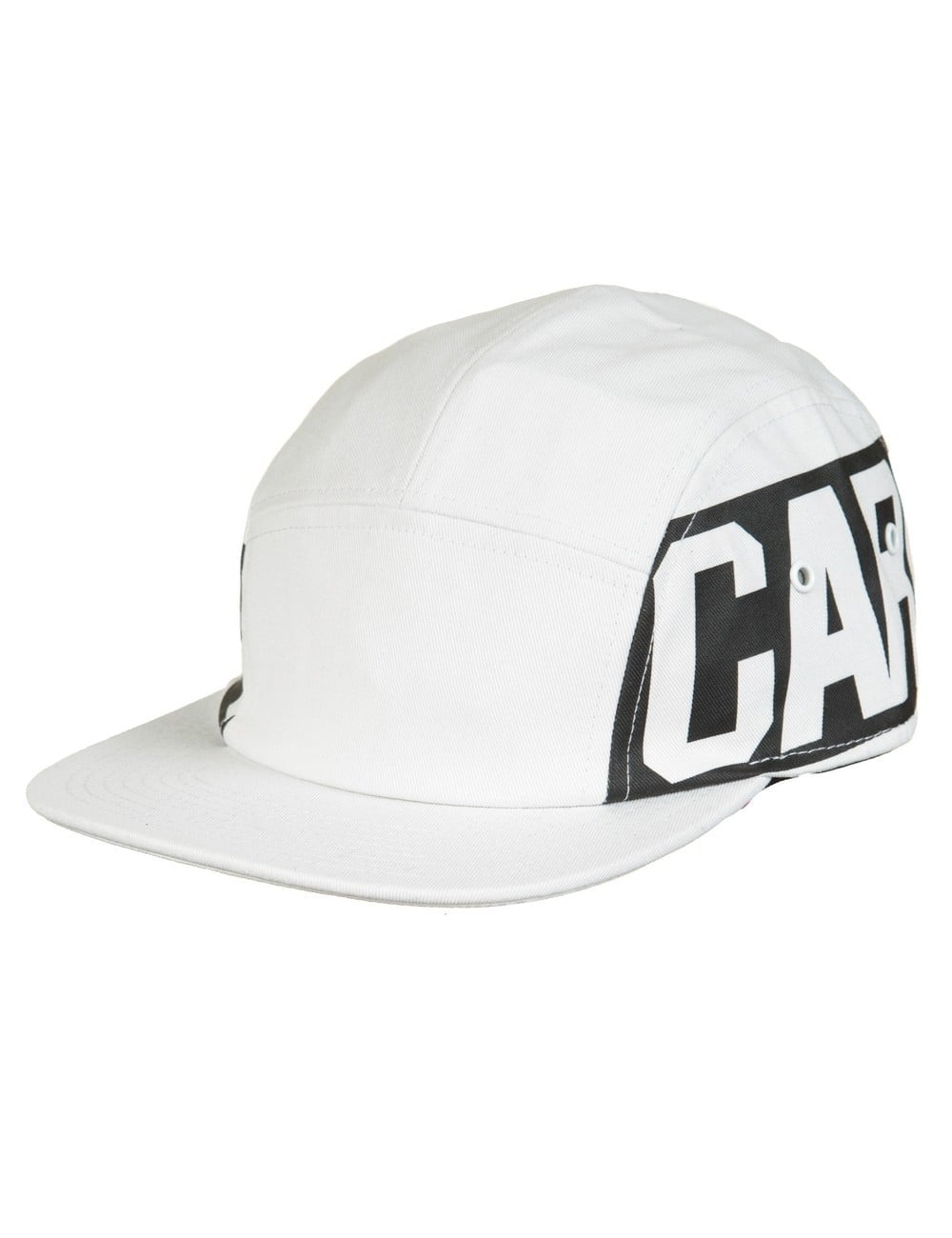 4ce9428bc042f Carhartt WIP Script Starter 5 Panel Cap - White Black - Hat Shop ...