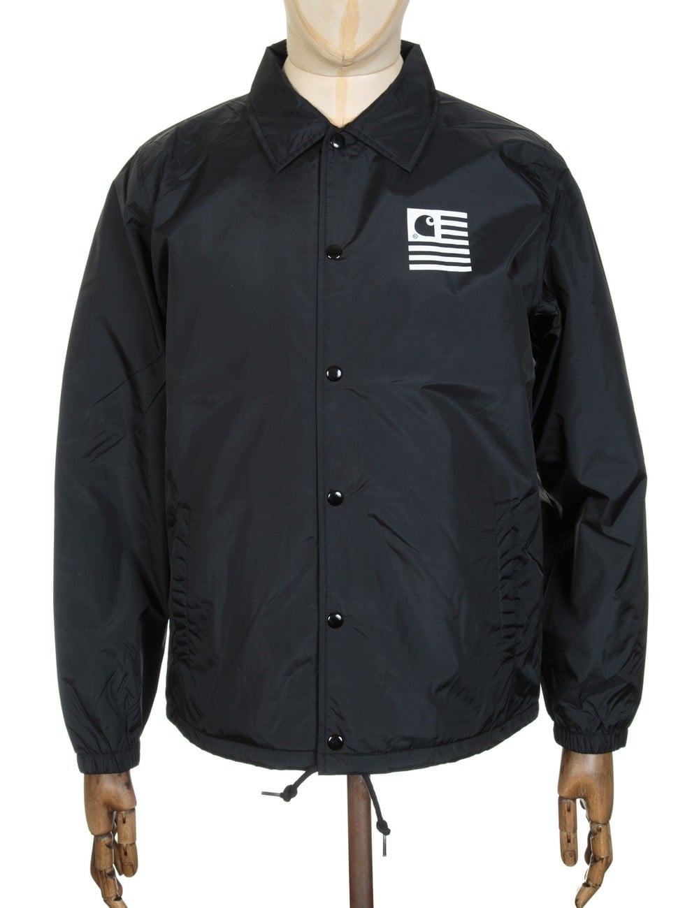 Carhartt Wip State Coach Jacket Blackwhite Clothing From Fat