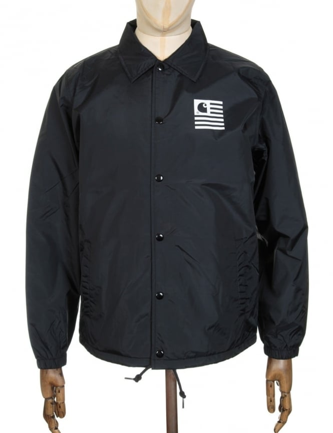 Carhartt State Coach Jacket - Black/White