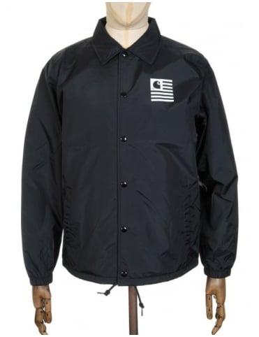 Carhartt State Coach Jacket - Black/White