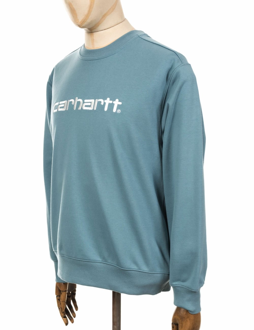 fa8c71389a Carhartt WIP Carhartt Sweatshirt - Dusty Blue Wax - Clothing from ...