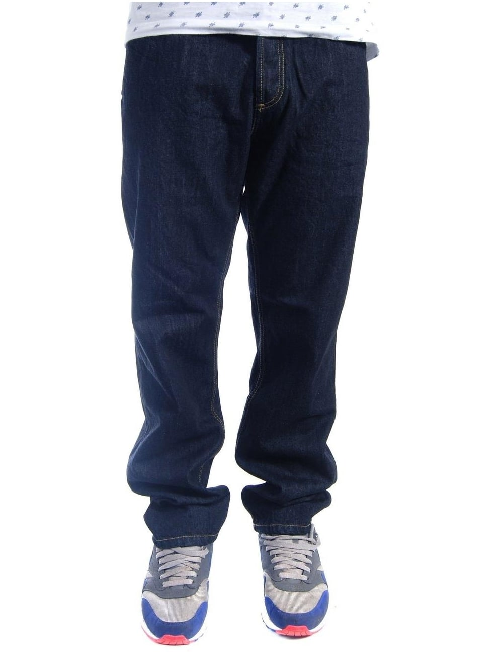 90c20f28 Carhartt WIP Texas Pant - Blue Rinsed (Hanford) - Clothing from Fat ...