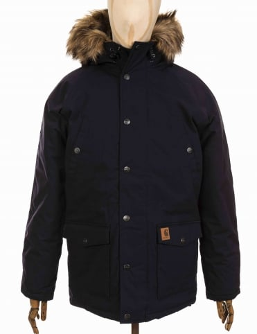 Trapper Parka - Dark Navy/Black
