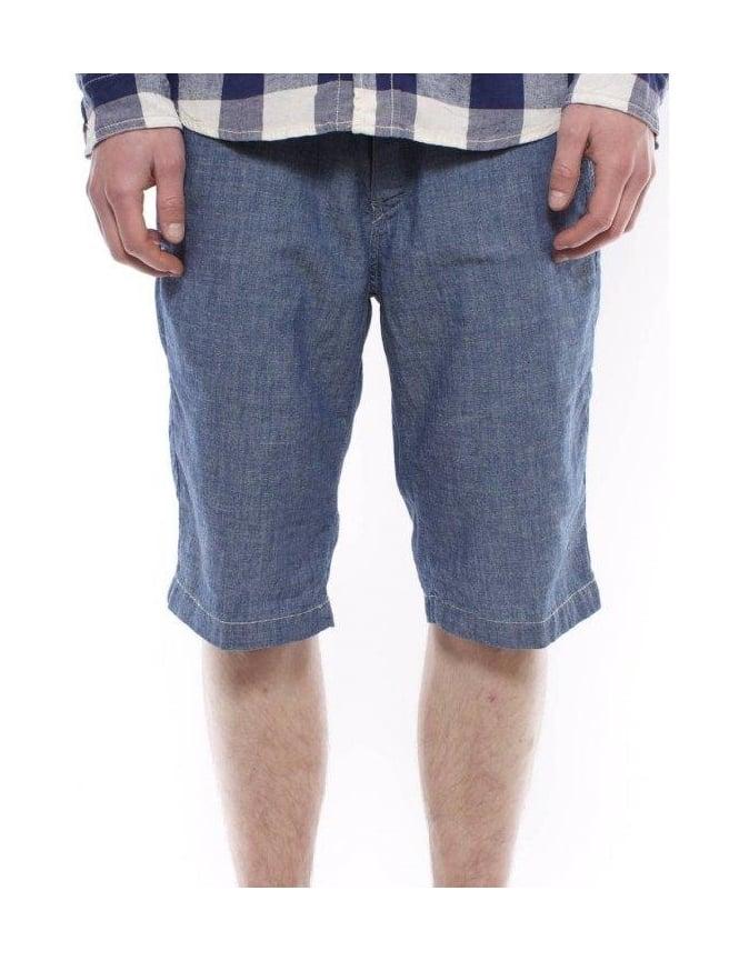 Carhartt Unit Bermuda Shorts - Blue Stonewashed
