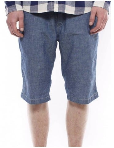 Carhartt Unit Bermuda Shorts - Blue Stonewashed