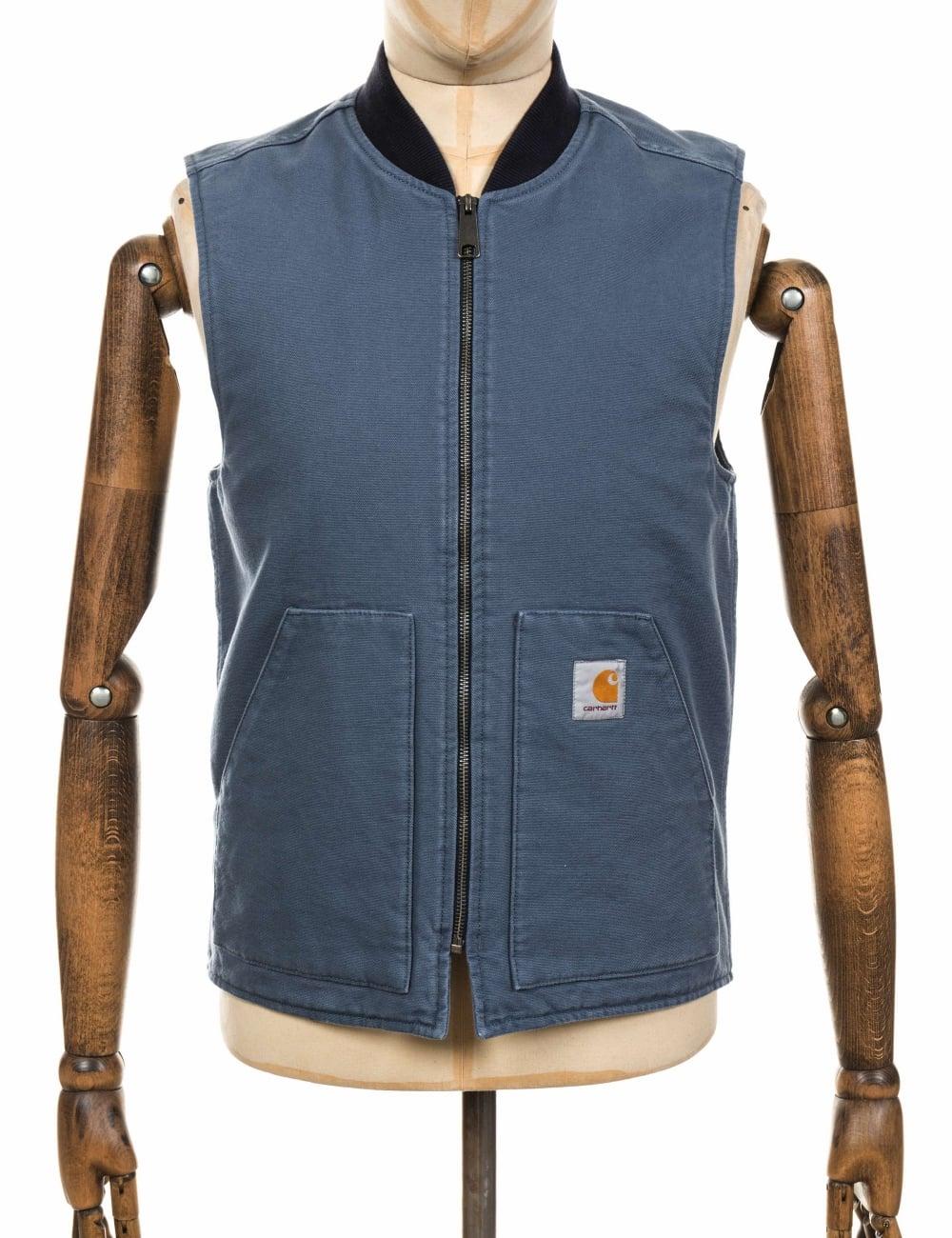 410e74afbb4 Carhartt WIP Vest - Stone Blue - Clothing from Fat Buddha Store UK carhartt  uk returns
