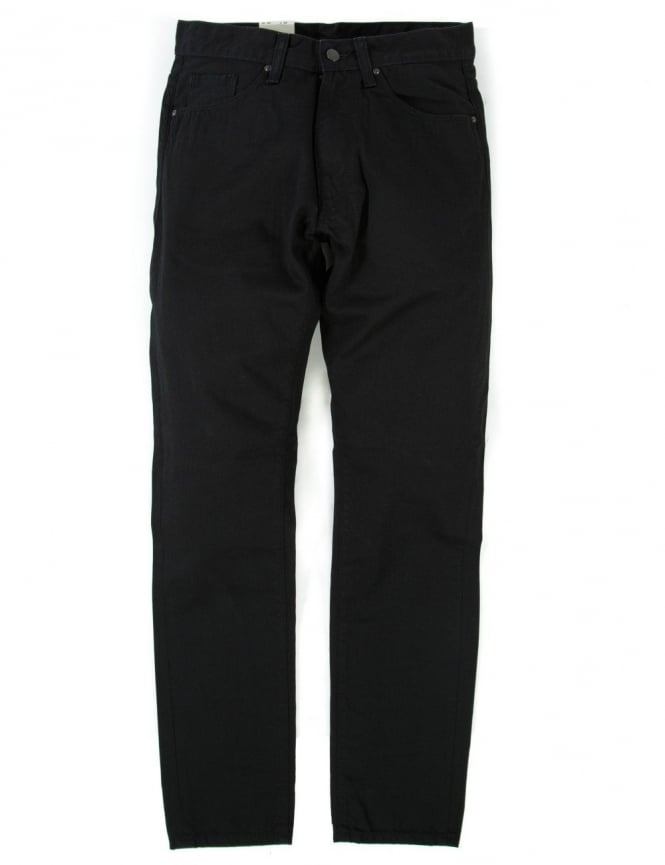 Carhartt Vicious Pant - Black Rinsed (Chicago Denim)