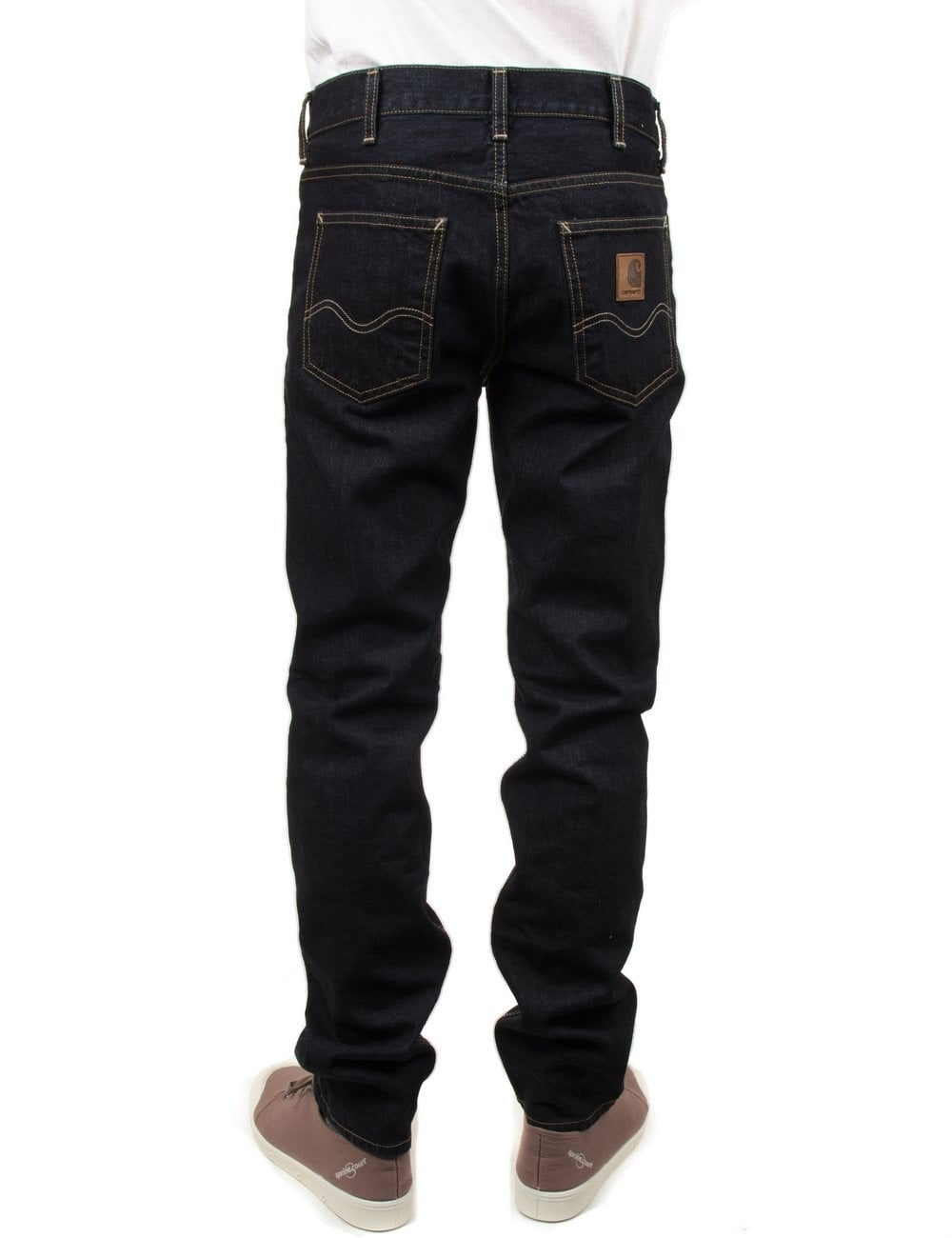 Carhartt Wip Western Pant Ii Blue Rinsed Edgewood Denim Clothing From Fat Buddha Store Uk