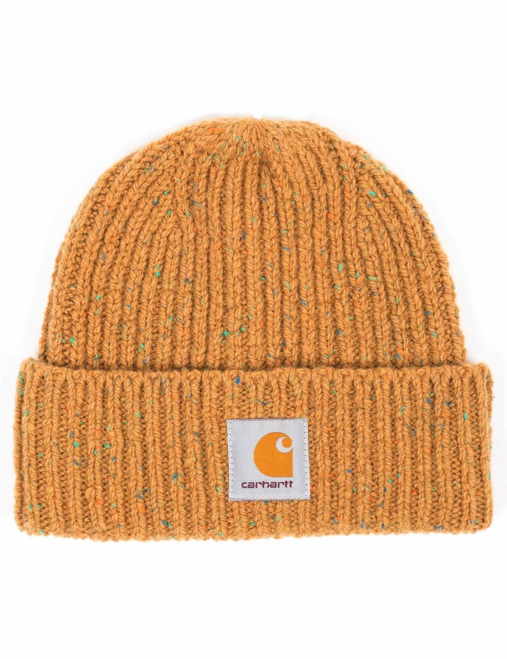 Carhartt WIP Anglistic Beanie Hat - Fawn Heather - Accessories from ... 6819dcbdb40