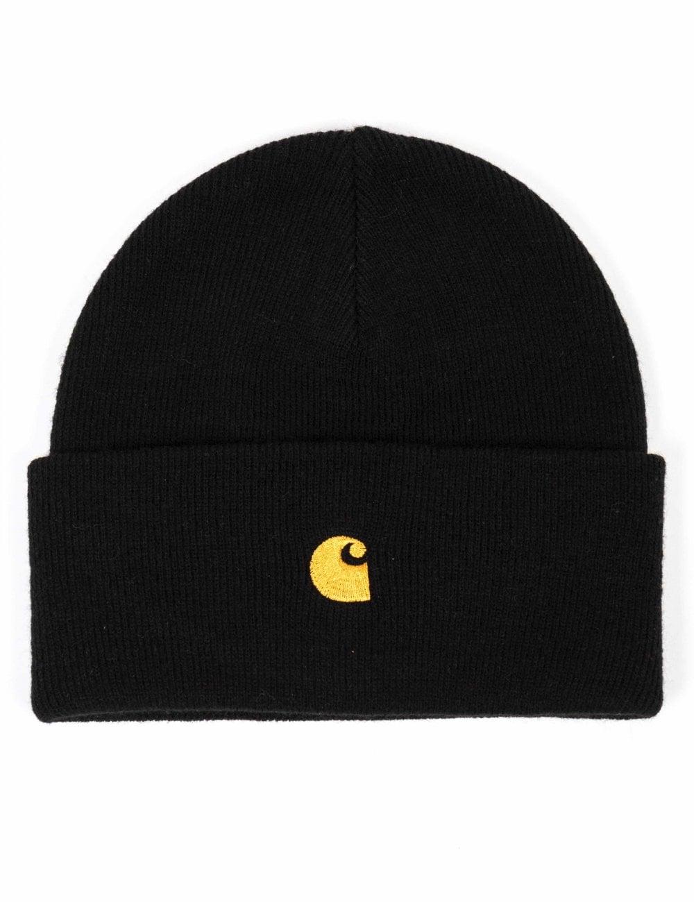 1ed5c0b06fc25 Carhartt WIP Chase Beanie Hat - Black - Accessories from Fat Buddha ...