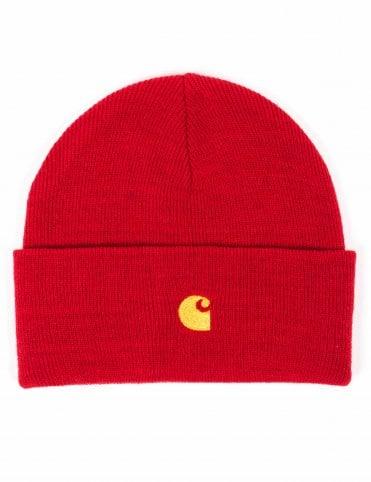 ce106e80747fc Carhartt WIP Chase Beanie Hat - Cardinal