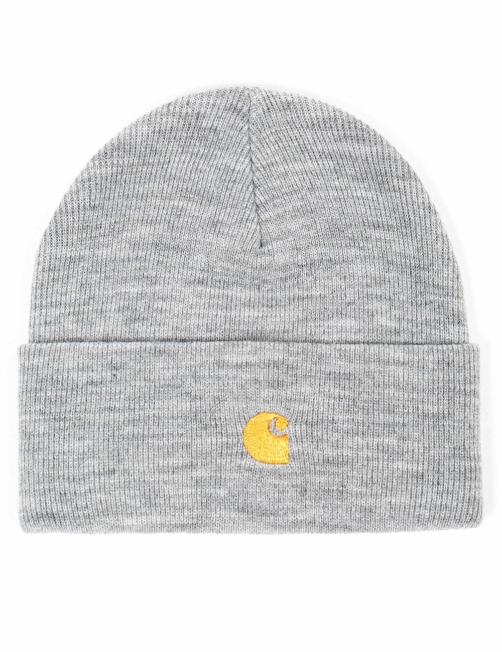 08e2a384d8df5 Carhartt WIP Chase Beanie Hat - Grey Heather - Accessories from Fat ...