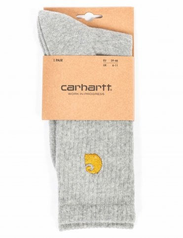 e62090c95e3c6 Carhartt WIP Chase Socks - Grey Heather