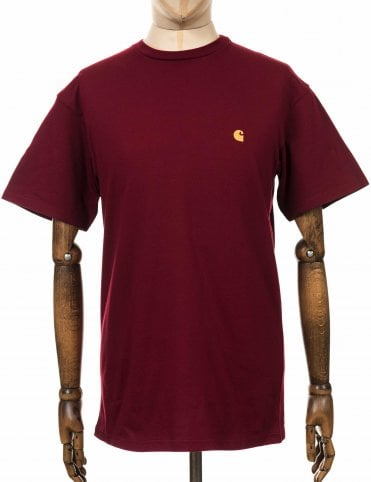 fa327ce4249a Carhartt WIP Chase Tee - Cranberry