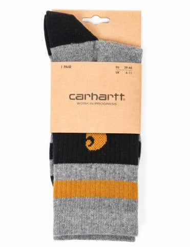 ebc45e66583 Carhartt WIP Fairfield Socks - Dark Grey Heather