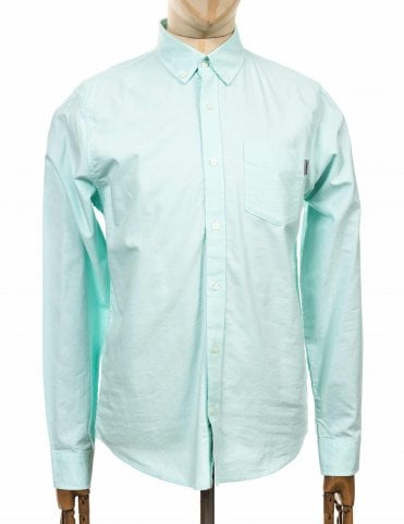 82508ba8c95d Carhartt WIP L/S Button Down Pocket Shirt - Light Yucca