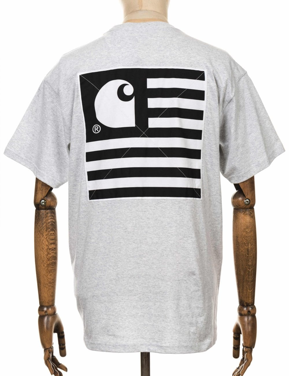 f138e847 Carhartt WIP S/S State Patch Tee - Ash Heather - Clothing from Fat ...