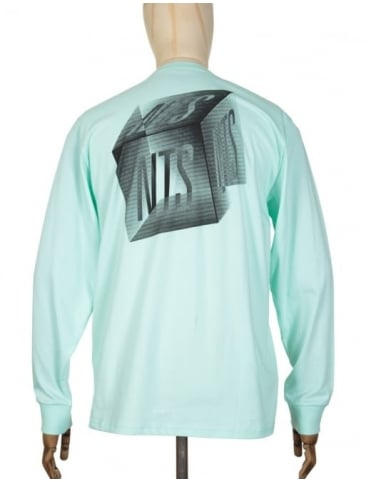 Carhartt x NTS L/S Cube Logo Pocket T-shirt - Lagoon