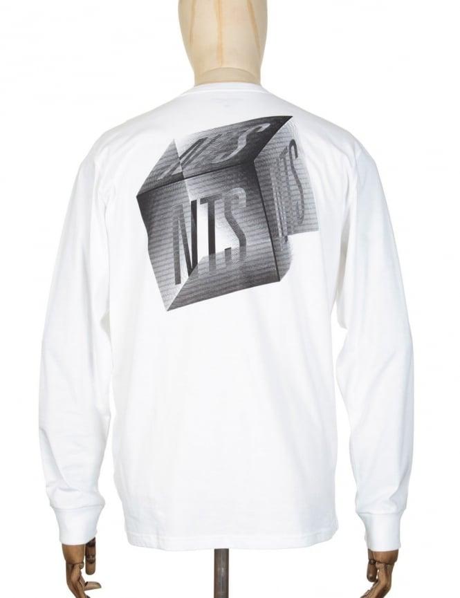 Carhartt x NTS L/S Cube Logo Pocket T-shirt - White