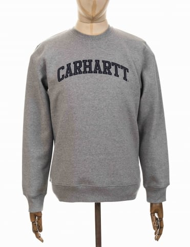 Carhartt Yale Sweatshirt - Heather Grey/Navy