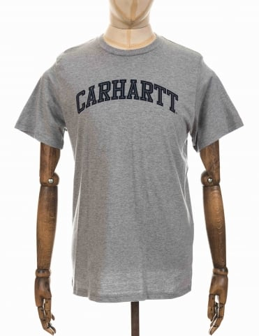 Carhartt Yale T-shirt - Heather Grey/Navy