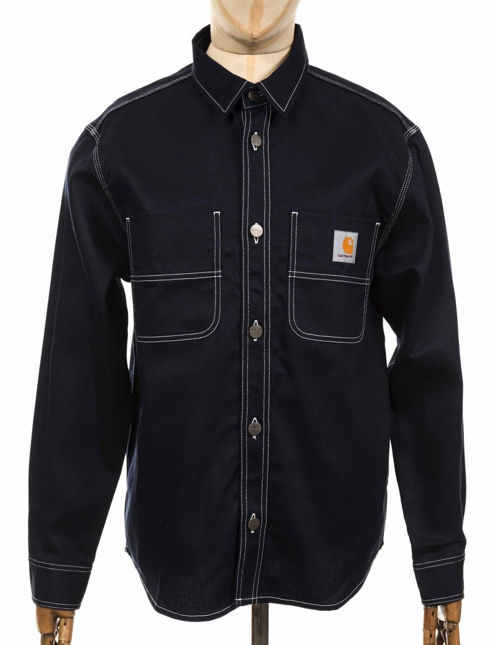 buying cheap skate shoes get new Chalk Shirt/Jacket - Dark Navy