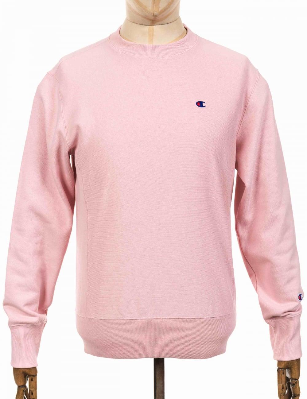 Champion Reverse Weave Crewneck Sweatshirt - CBS Pink - Clothing ... b2db2e3998b1